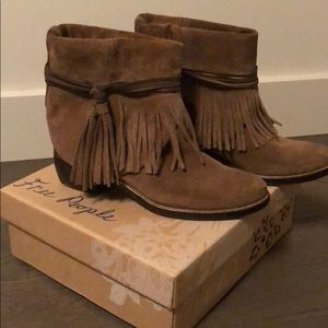 Free People lonesome fringe bootie